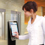 AGILE ThyssenKrupp's Destination Dispatch Control Touchpad with Person